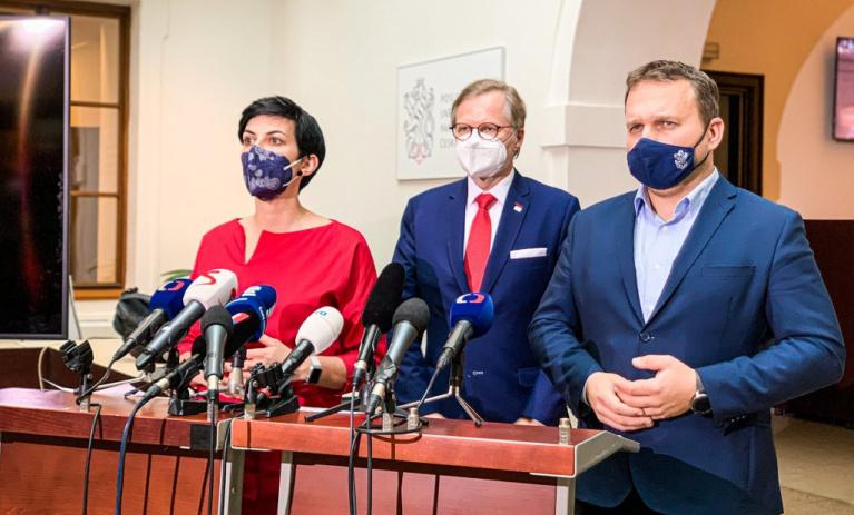 TOP 09, ODS a KDU ČSL zveřejnily své podmínky pro eventuální podporu nouzového stavu