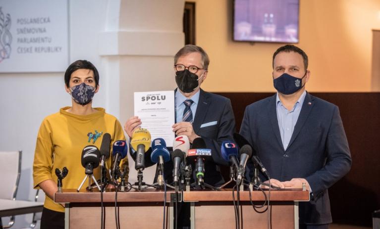 ODS, KDU-ČSL a TOP 09 pracují na programu, lídrem koalice je Fiala
