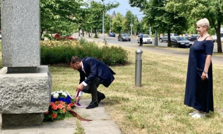 Marek Ženíšek uctil památku Heliodora Píky