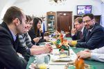 Martin Plíšek a Michal Kučera na snídani s novináři