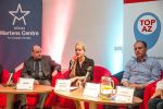 Moderátorka Veronika Víchová (Evropské hodnoty) na konferenci Trojský kůň