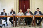 Panel řečníků (zleva): Adam Drda, David Klimeš, Lenka Zlámalová, Bohumil Doležal, Dalibor Balšínek