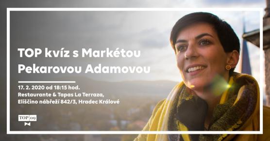 TOP kvíz s Markétou Pekarovou Adamovou